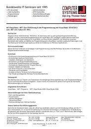 MS Visual Basic .NET - Computer-Systeme Dipl.-Ing. Thorsten Kebel