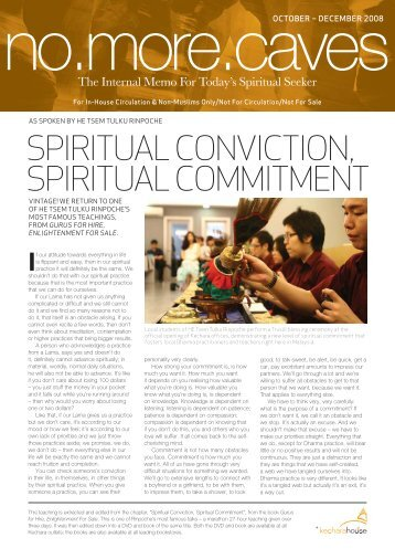 SPIRITUAL CONVICTION, SPIRITUAL COMMITMENT - Kechara