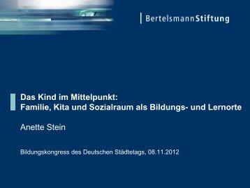 Das Kind im Mittelpunkt - Bertelsmann Stiftung