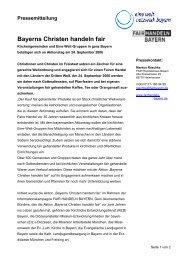 Pressemitteilung Bayerns Christen handeln fair
