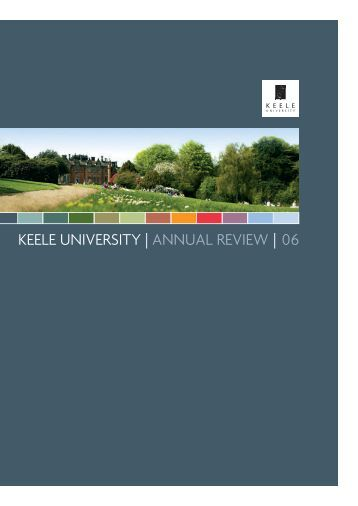 2006 Annual Review - Keele University