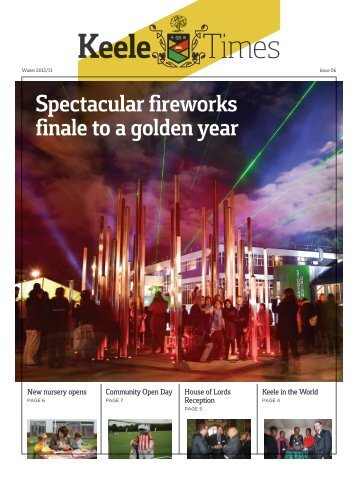 Spectacular fireworks finale to a golden year - Keele University