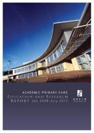 2009 - 2010 Report - Keele University