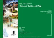 Campus Guide and Map - Keele University