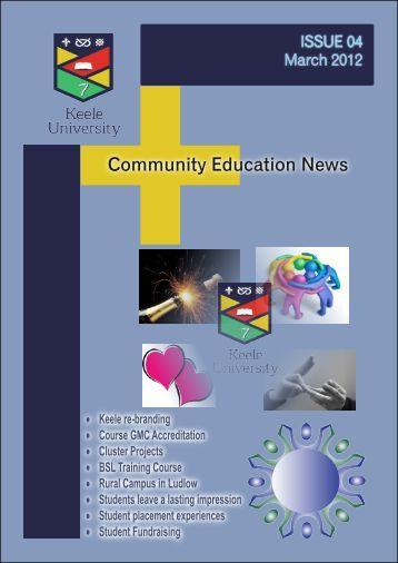 Newsletter March 2012 - Keele University
