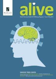 Alive Newsletter May 2011 - Keele University