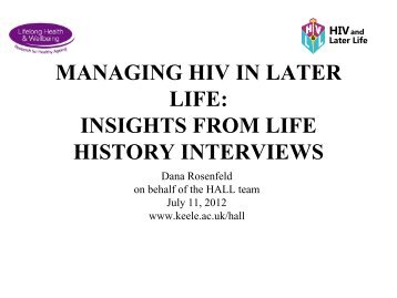 HALL: Managing HIV and Later Life Powerpoint