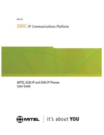 MITEL 5330 IP And 5340 IP Phones User Guide – Keele University
