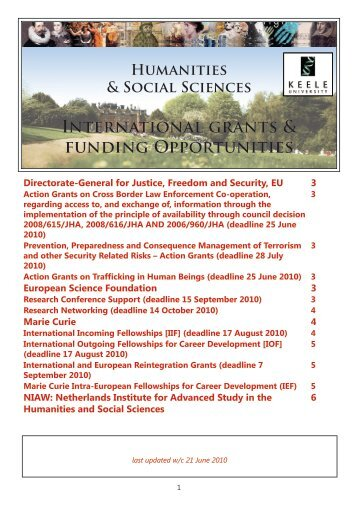 EU International Funding Guide June 2010