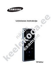YP-K3J Lietošanas instrukcija