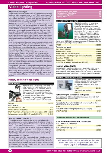 Video lighting - Keene Electronics  sc 1 st  Yumpu & Unomat Magazines