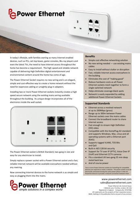 Consumer Brochure Keene Electronics