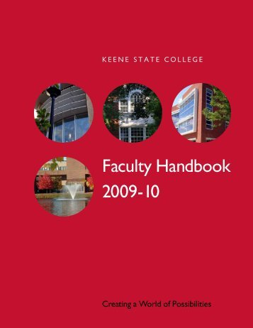 Faculty Handbook 2009/10 (pdf) - Keene State College