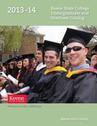 Keene State College Undergraduate and Graduate Catalog