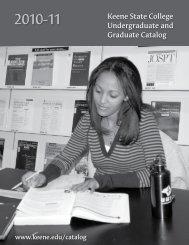 KSC Catalog 2010-11 - Keene State College