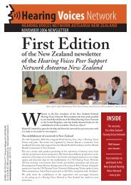 Hearing Voices network aotearoa new ZeaLanD - Keepwell