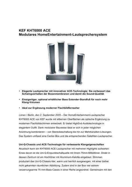 Kef Kht6000 Ace Modulares Hifi Im Hinterhof