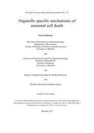 Organelle specific mechanisms of neuronal cell ... - Helda - Helsinki.fi