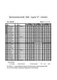 Bezirksmeisterschaft 2008 Jugend