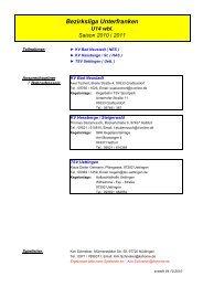 Spielplan Bezirksliga U14 wbl. 2010 - Kegeln-Bezirk-Unterfranken