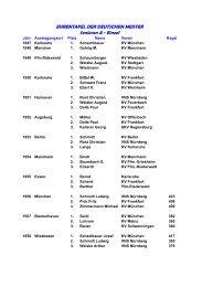 Ehrentafel DM Einzel + Mannschaft Senioren ab 1949