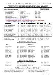 Tabelle Saisonende 2001