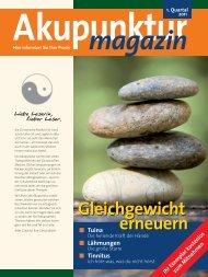 Akupunktur Magazin PDF Ausgabe 1/11 mit den