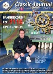 Online Classic-Journal 100 - Deutscher Kegler