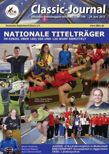 Classic-Journal 106 - Deutscher Kegler