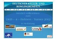 DKB - 4 Bahnen - Turnier - Deutscher Kegler