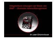 Zentrales AdressManagement - KEG Saar