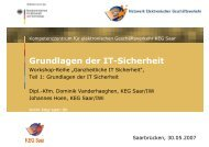 Grundlagen der IT-Sicherheit - KEG Saar