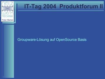 IT-Tag 2004 Produktforum II - KEG Saar
