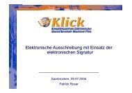 Elektronische Ausschreibung mit Einsatz der elektronischen ...