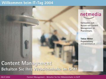 Content Management Content Management - KEG Saar