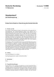 Entwurf eines Gesetz zur Neuordnung des Gentechnikrechts