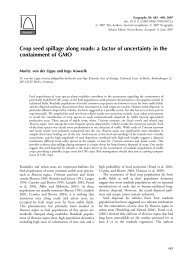 Crop seed spillage along roads: a factor of uncertainty in the ...