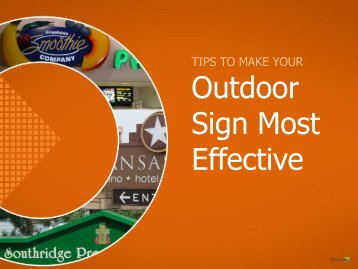 Outdoor signs in Kansas City – Boost your sales