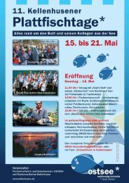11. Kellenhusener Plattfischtage vom 15. bis 21. Mai 2011