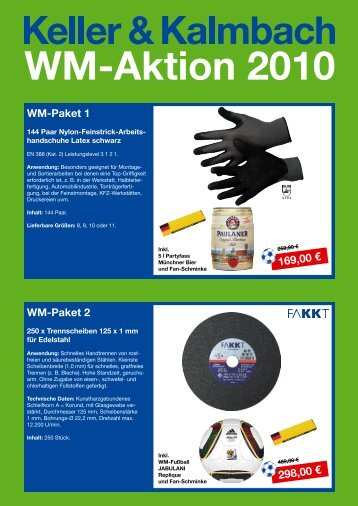 WM-Aktion 2010 - Keller & Kalmbach GmbH