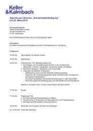 """Agenda zum Seminar """"Schwerlastbefestigung"""" am 22. März 2012"""