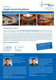 Einladungskarte inkl. Agenda - Keller & Kalmbach GmbH