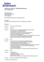 "Agenda zum Seminar ""Edelstahlbearbeitung - Keller & Kalmbach ..."