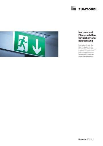 Normen und Planungshilfen für Sicherheits beleuchtung