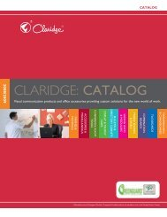 CLARIDGE: Catalog