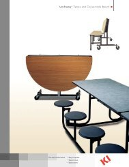 Uniframe® Tables and Convertible Bench - Iowa Prison Industries