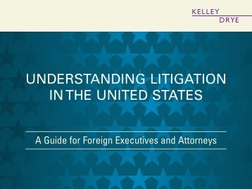 Understanding Litigation in the United States: A Guide ... - Kelley Drye