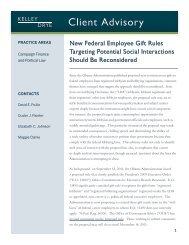 New Federal Employee Gift Rules Targeting Potential ... - Kelley Drye