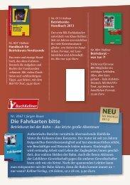 Die Fahrkarten bitte - Kellner Verlag