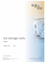 Ice storage units - manual
